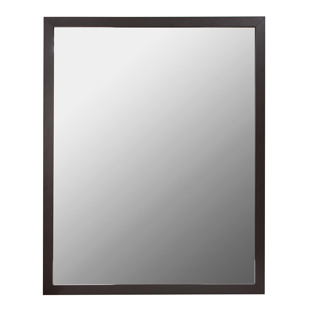 24 in. W x 30 in. H Aluminum Wall Framed Mirror in Oil Rubbed Bronze ...
