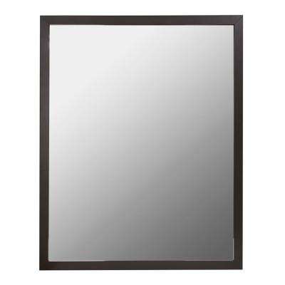 24 in. W x 30 in. H Aluminum Wall Framed Mirror in Oil Rubbed Bronze