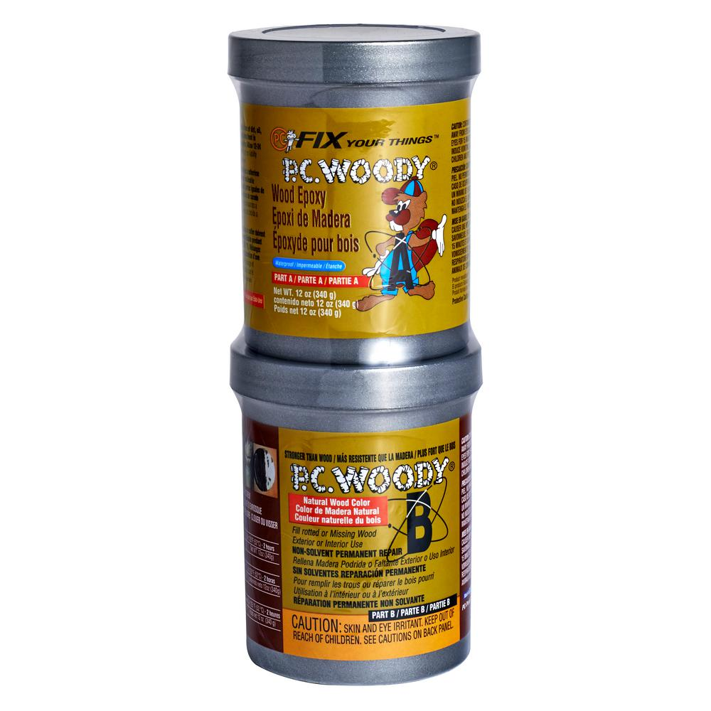 PC Products 12 oz. PC-Woody Wood Epoxy Paste-163337 - The Home Depot