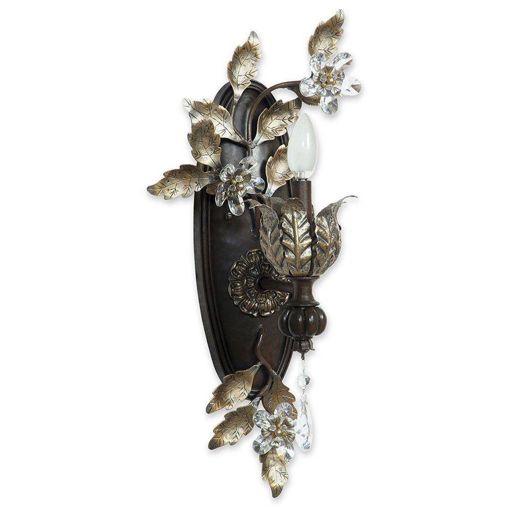 Yosemite Home Decor Splendido Collection Wall mount 1-Light Sconce-DISCONTINUED