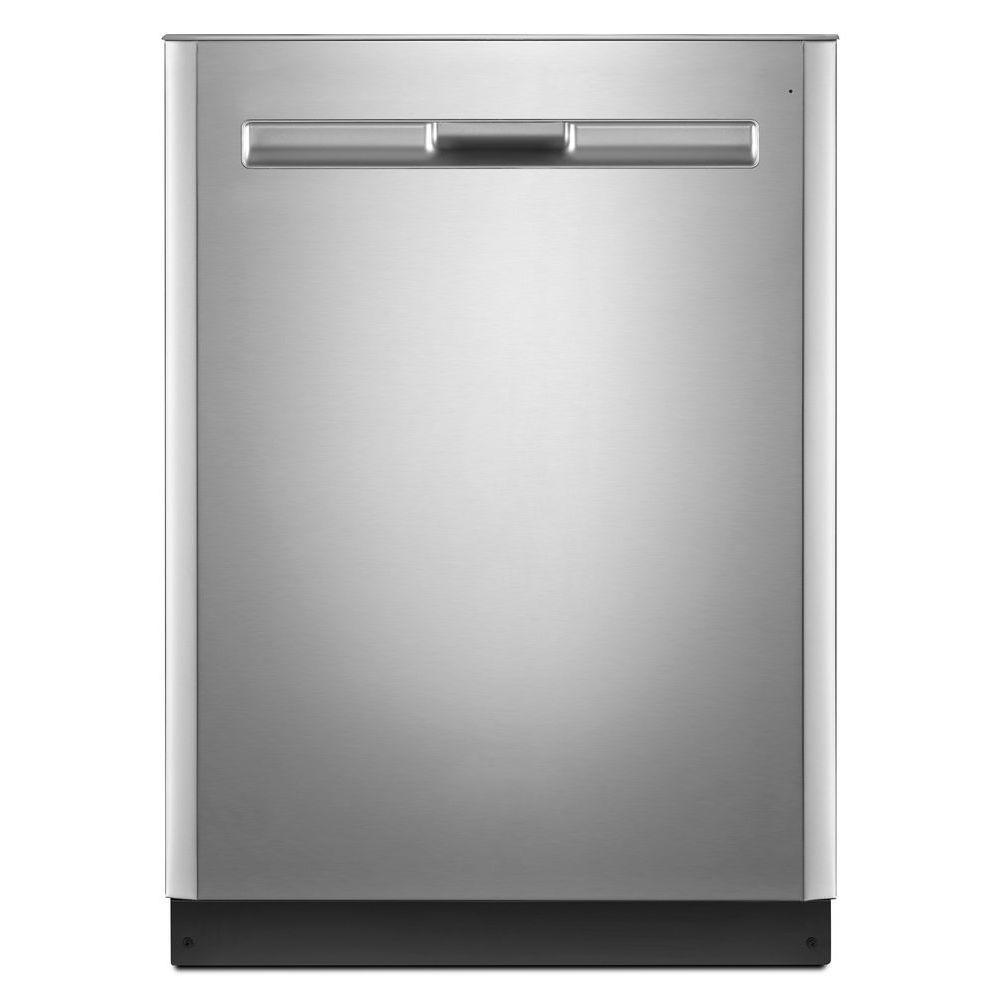 Maytag 24 in. Top Control Built-in Tall Tub Dishwasher in Fingerprint Resistant Stainless Steel with Stainless Steel Tub