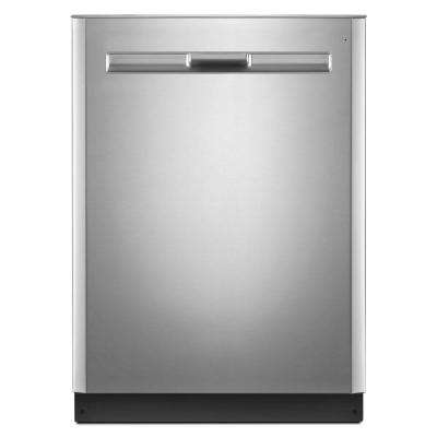 24 in. Top Control Built-in Tall Tub Dishwasher in Fingerprint Resistant Stainless Steel with Stainless Steel Tub