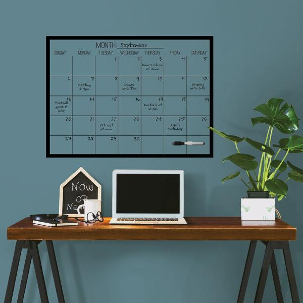 Wall Pops Black On Clear Monthly Calendar Decal WPE2801 - The Home