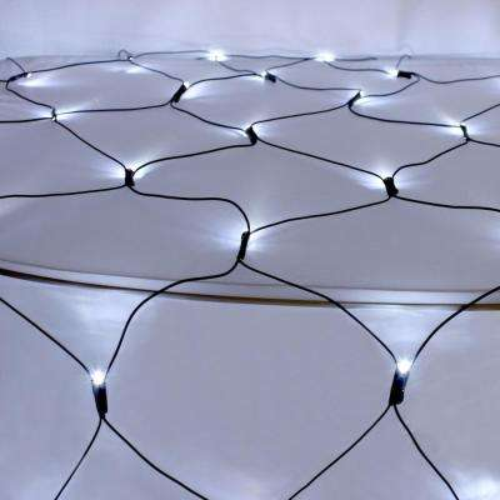 50 LED White Solar Powered Net Lights