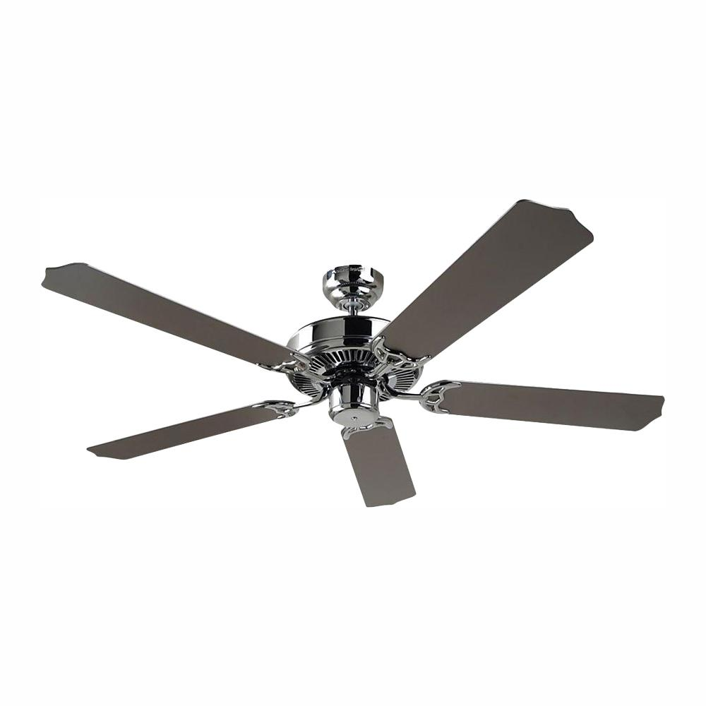 Sea Gull Lighting Quality Max 52 in. Chrome Indoor Ceiling Fan