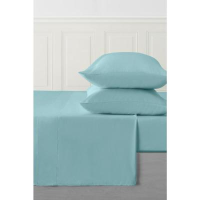 4-Piece Sea Glass Solid 250 Thread Count Bamboo Queen Sheet Set