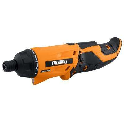 3.6-Volt Lithium-Ion Cordless 1/4 in. Rechargeable Electric Screwdriver with Charger, Hex Bits, and Case