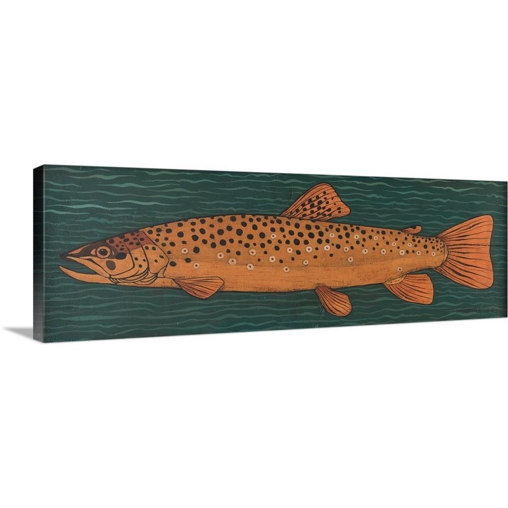 ''Fish'' by Warren Kimble Canvas Wall Art