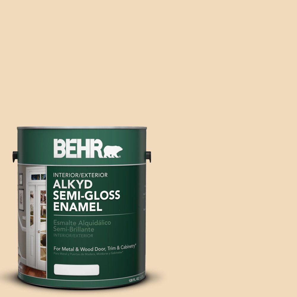 BEHR 1-gal. #AE-20 Tiki Light Semi-Gloss Enamel Alkyd Interior/Exterior Paint