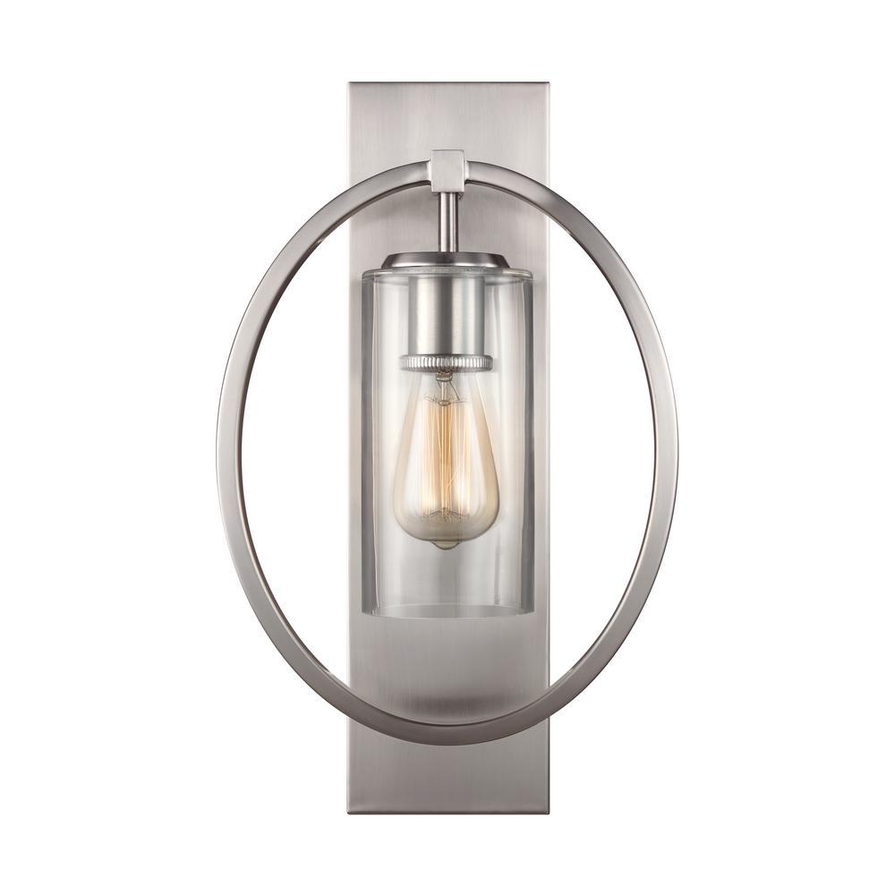Marlena 1-Light Satin Nickel Wall Sconce