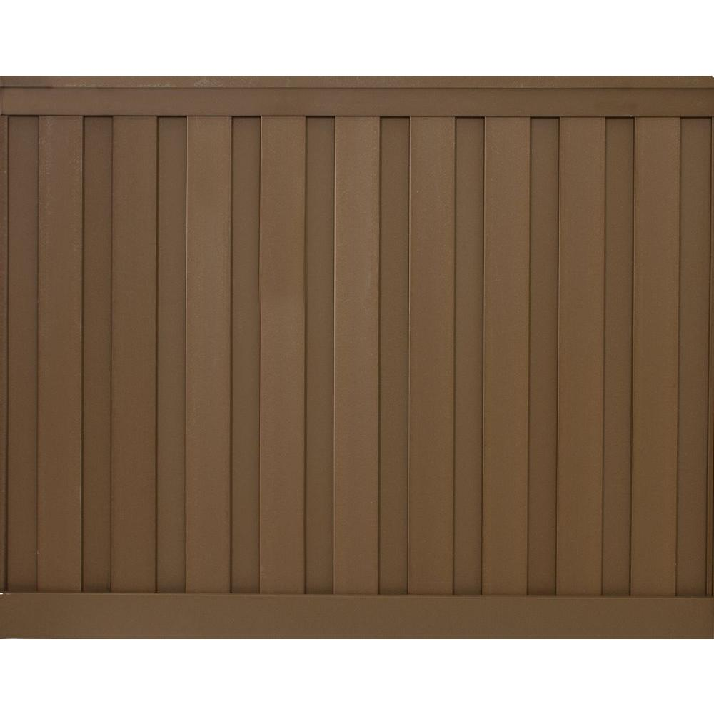 Seclusions 6 ft. x 8 ft. Saddle Brown Wood-Plastic Composite Board-On-Board