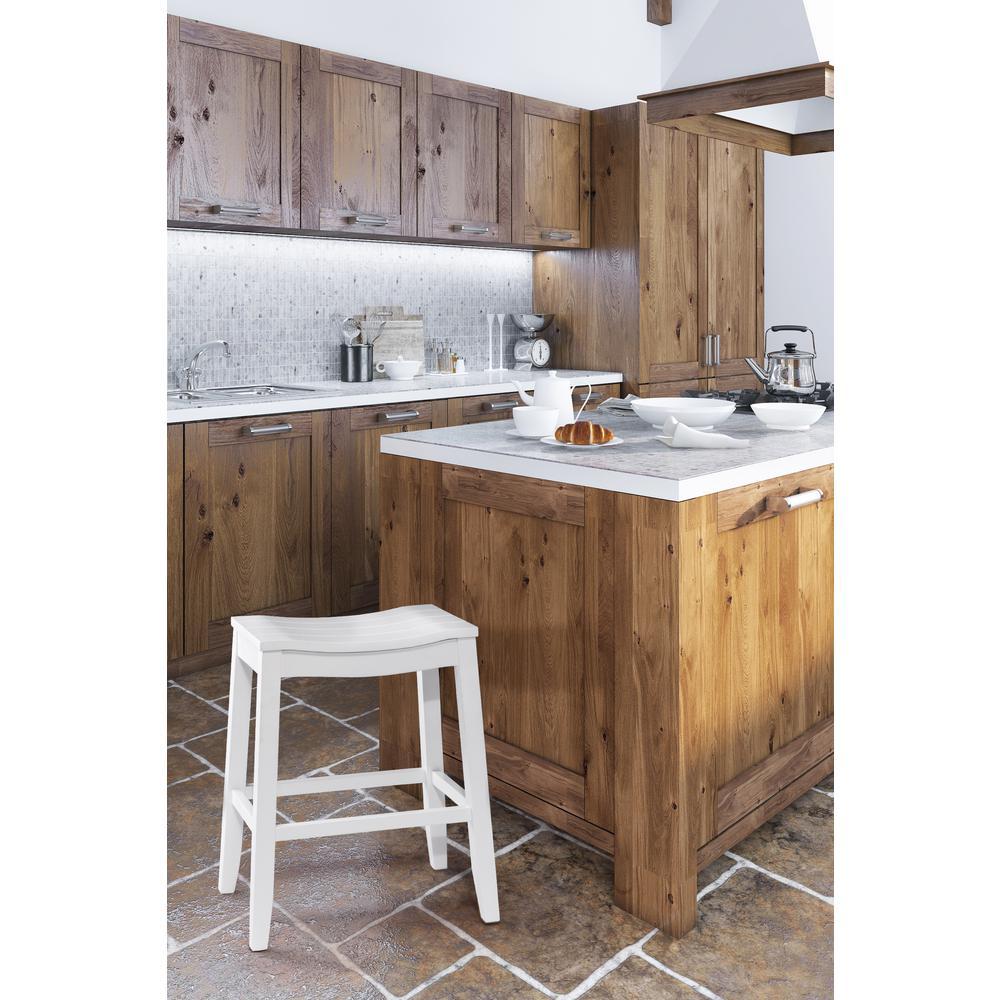 Hillsdale furniture fiddler white non swivel bar stool