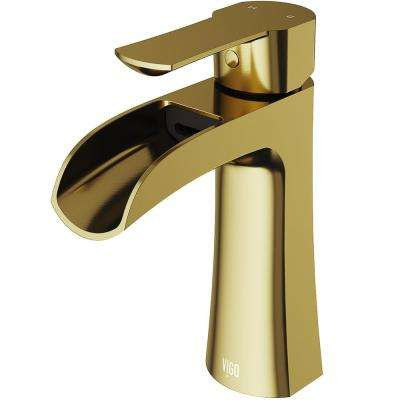 Paloma Single Hole Single-Handle Bathroom Faucet in Matte Gold