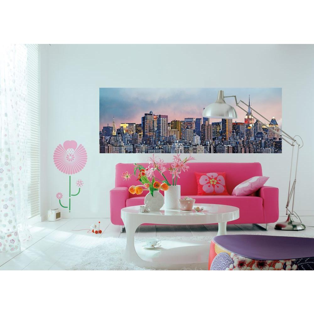 Ideal Decor 50 In. X 144 In. New York Skyline Wall Mural Part 51