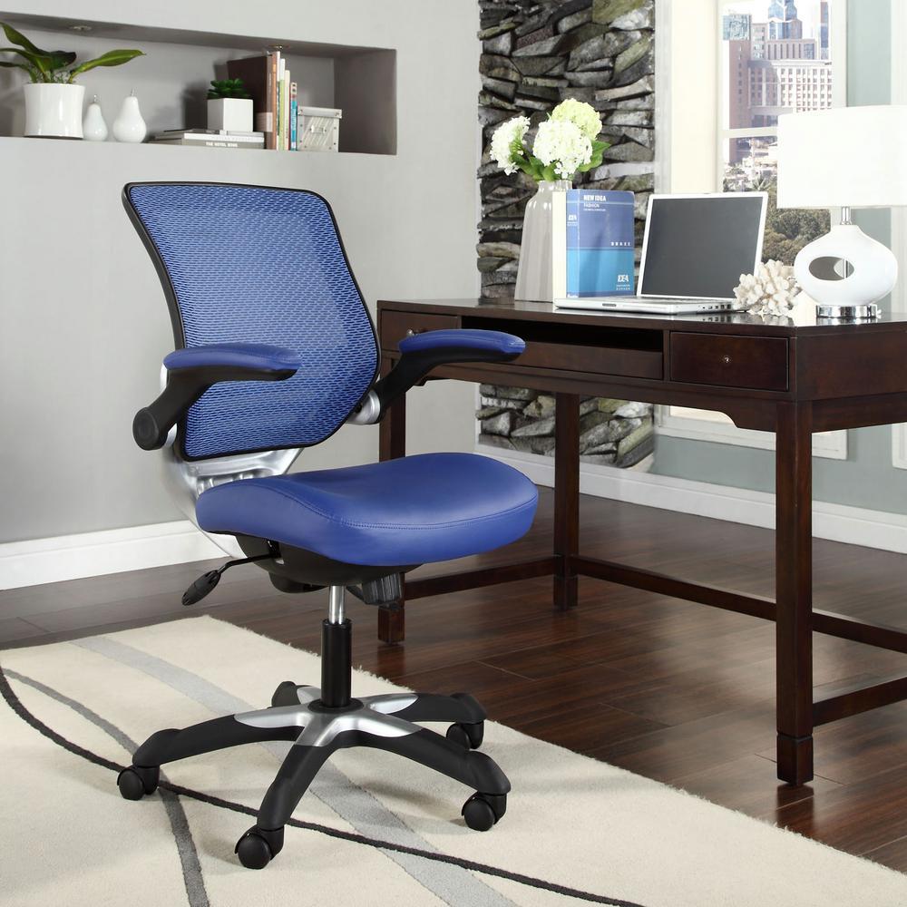 Blue Office: MODWAY Edge Vinyl Office Chair In Blue-EEI-595-BLU