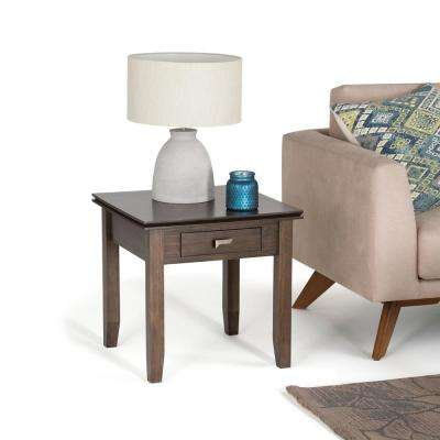 Artisan Natural Aged Brown Storage End Table