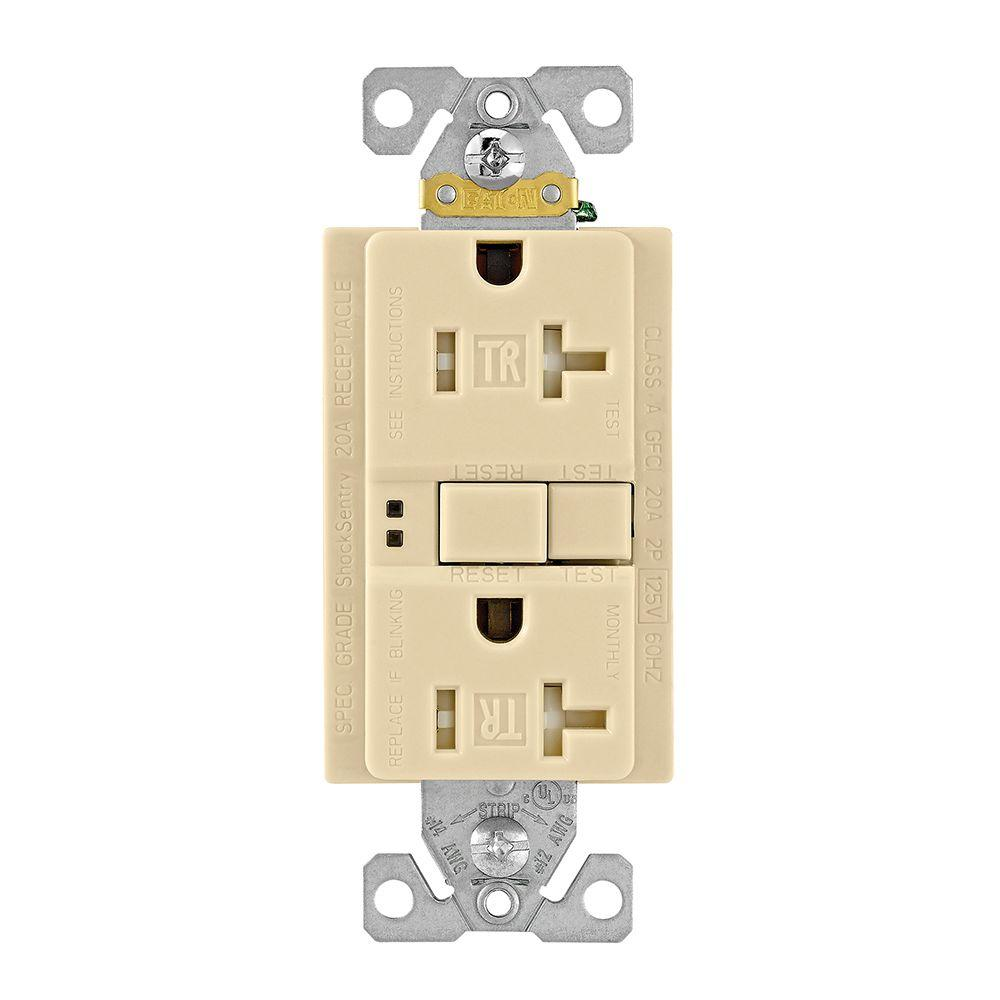 Eaton gfci self test 20a 125v tamper resistant duplex receptacle eaton gfci self test 20a 125v tamper resistant duplex receptacle with standard size wallplate sciox Image collections