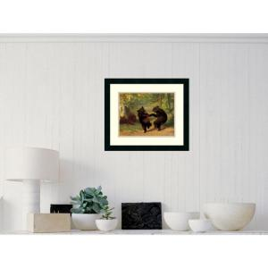 Amanti Art 21 inch x 18 inch Outer Size 'Dancing Bears' by William Beard Framed Art Print by Amanti Art