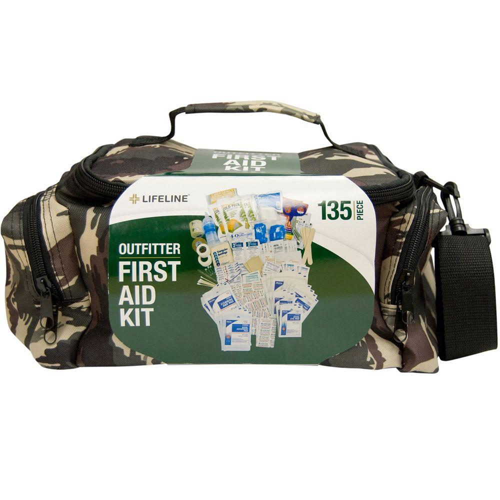 Lifeline 135-Piece ANSI Outfitter Emergency First Aid Kit Camouflage Duffel Bag