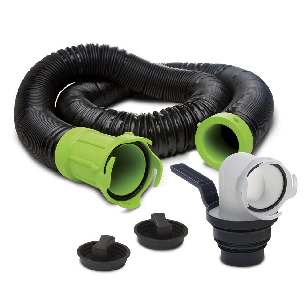 Titan Premium 15 ft. RV Sewer Kit in Black