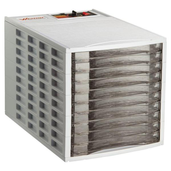 10-Tray White Food Dehydrator with Temperature Control
