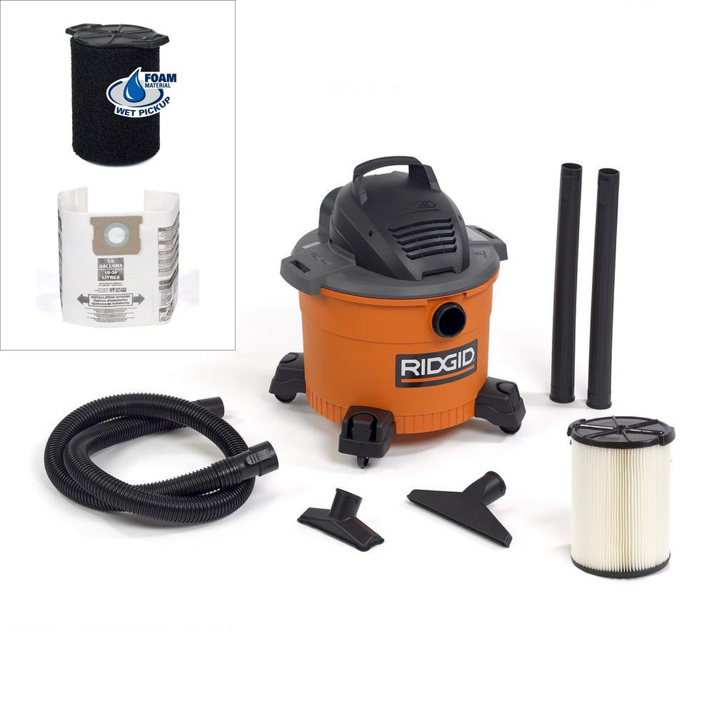9 Gal. 4.25-Peak HP Wet Dry Vac with Wet Filter and
