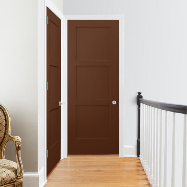 Jeld Wen 32 In X 80 In Birkdale Milk Chocolate Stain Smooth Hollow Core Molded Composite Interior Door Slab Thdjw235300513 The Home Depot
