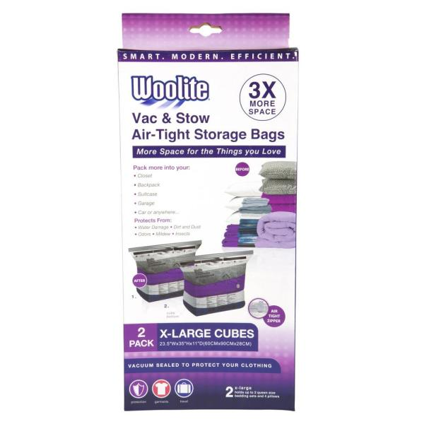 2PC CUBE X-LARGE VACUUM STORAGE 23.5'' X 35'' X 11''