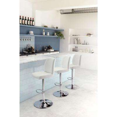 Willful 38.6 in. White Bar Chair