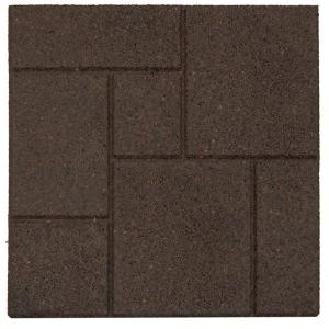 Envirotile Cobblestone Earth 18 In X Rubber Paver Mt5000637 The Home Depot