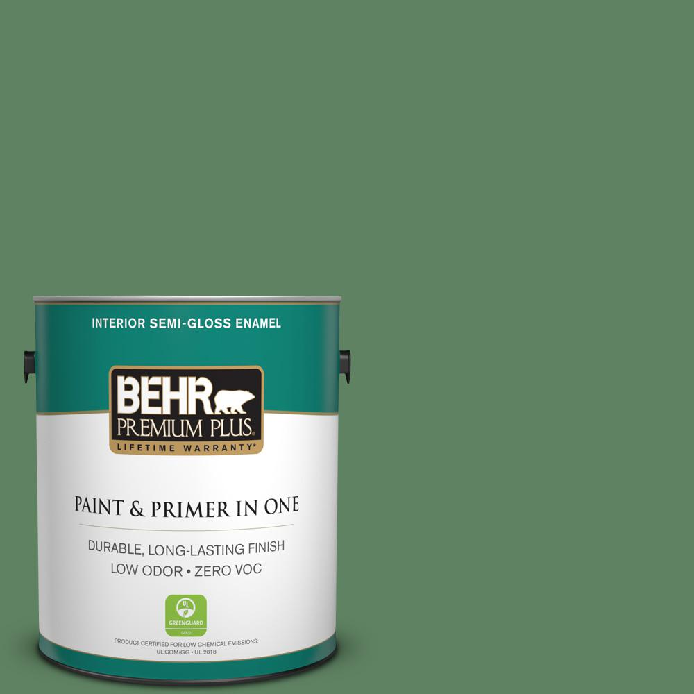 1-gal. #S400-6 Tuscan Herbs Semi-Gloss Enamel Interior Paint
