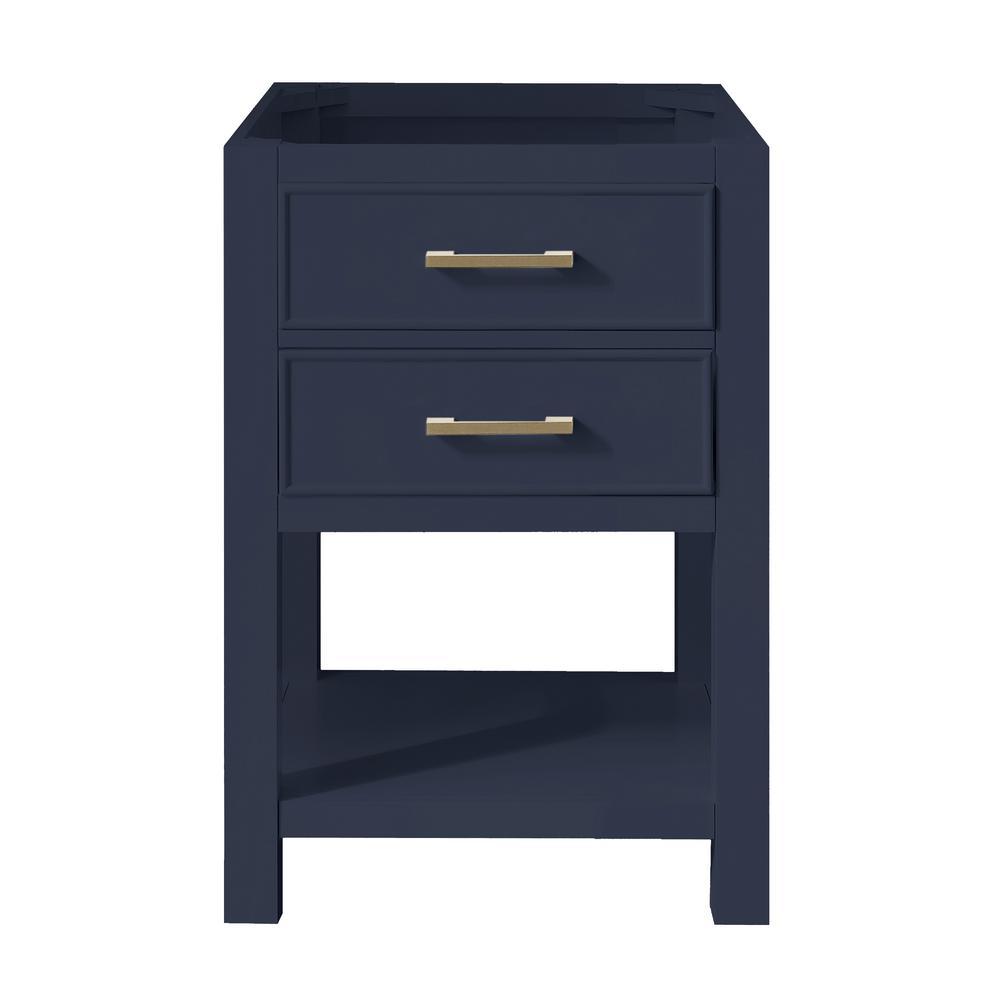 Brooks 24 in. W x 21.5 in. D Bath Vanity Cabinet Only in Navy Blue
