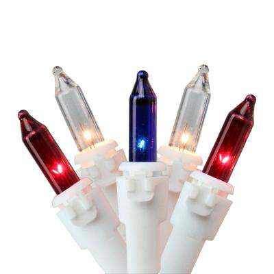 0.25 in. Red White Blue 4th of July Mini Light Set with 20 ft. White Wire (100-Count)