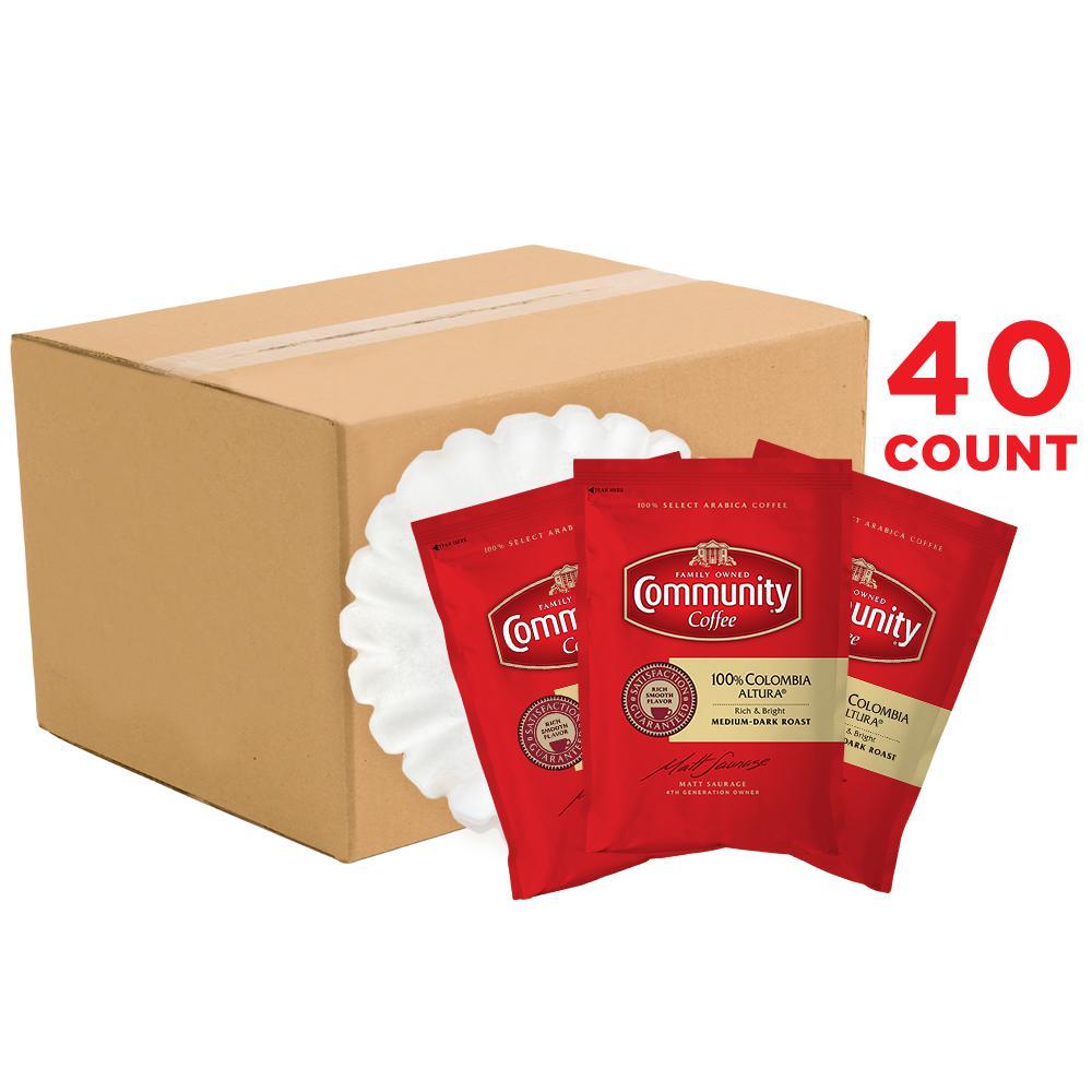 2.5 oz. 100% Colombia Altura Premium Ground Medium-Dark Roast Fractional Packs (40-Count)