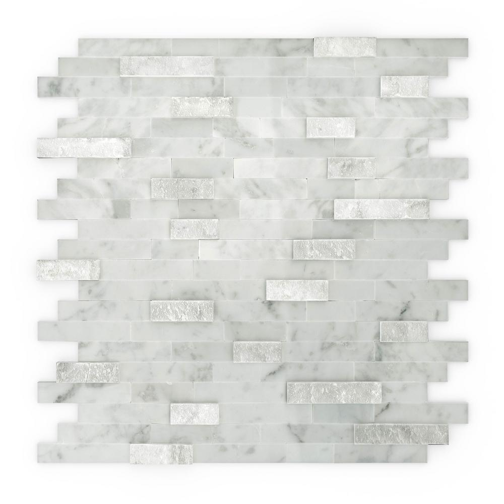 Inoxia SpeedTiles Camarillo White and Grey 11.75 in. x 11.6 in. x 5 ...