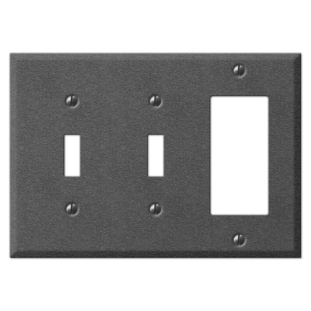 Creative Accents Steel 2 Toggle 1 Decora Wall Plate - Antique Pewter