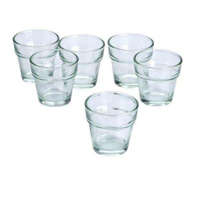 Clear Glass Flower Pot Votive Candle Holders (Set of 72)