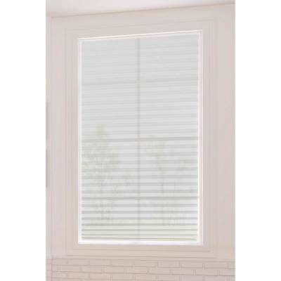 36 in. W x 72 in. L Vinyl White Cordless Light Filtering Size at Home Easy Stick Pleated Shade (6-Pack)
