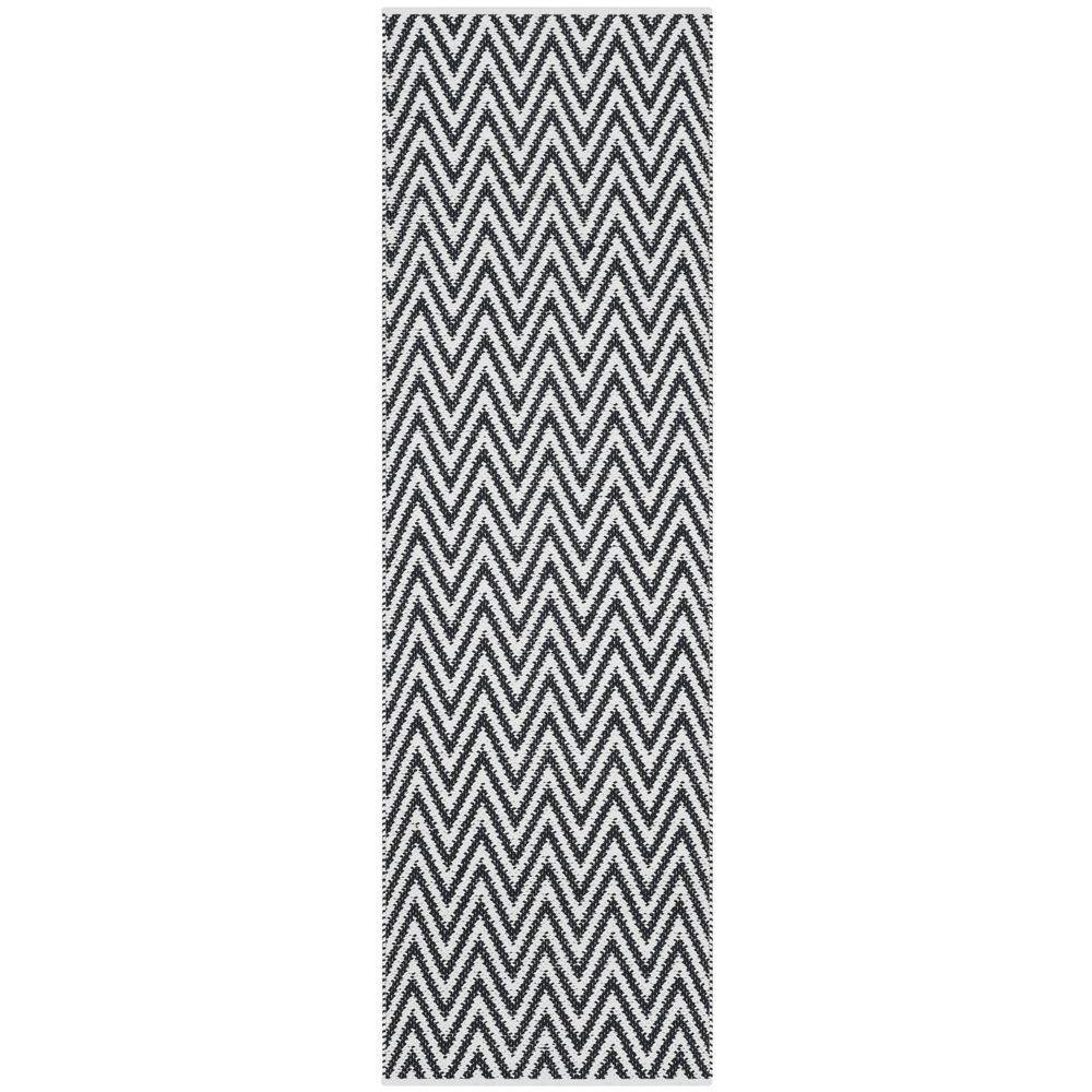 Montauk Black/Ivory 2 ft. x 7 ft. Runner Rug