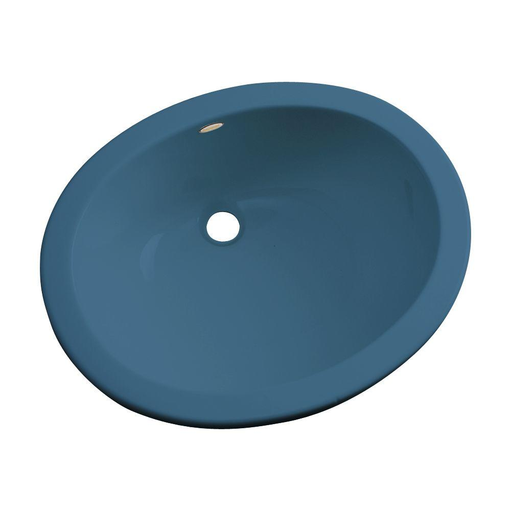 Thermocast Montera Undermount Bathroom Sink in Rhapsody Blue