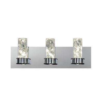 18-Watt 6-Light Chrome Integrated LED Bath Light
