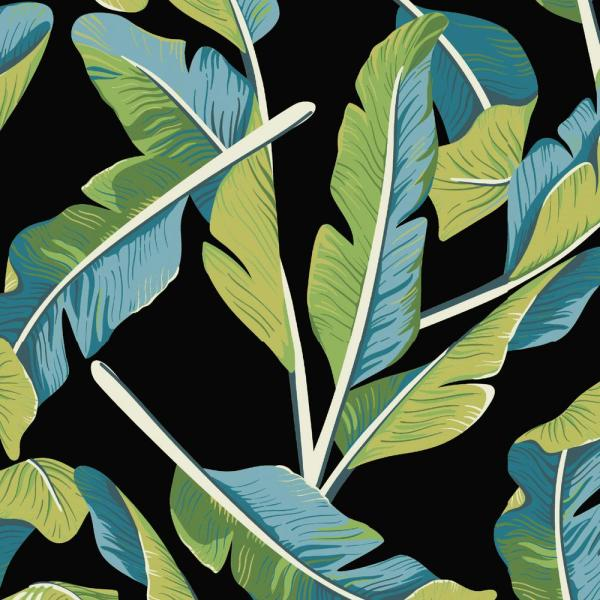 Hampton Bay Banana Leaf Tropical Outdoor Fabric By The Yard Tj2x540 10 The Home Depot