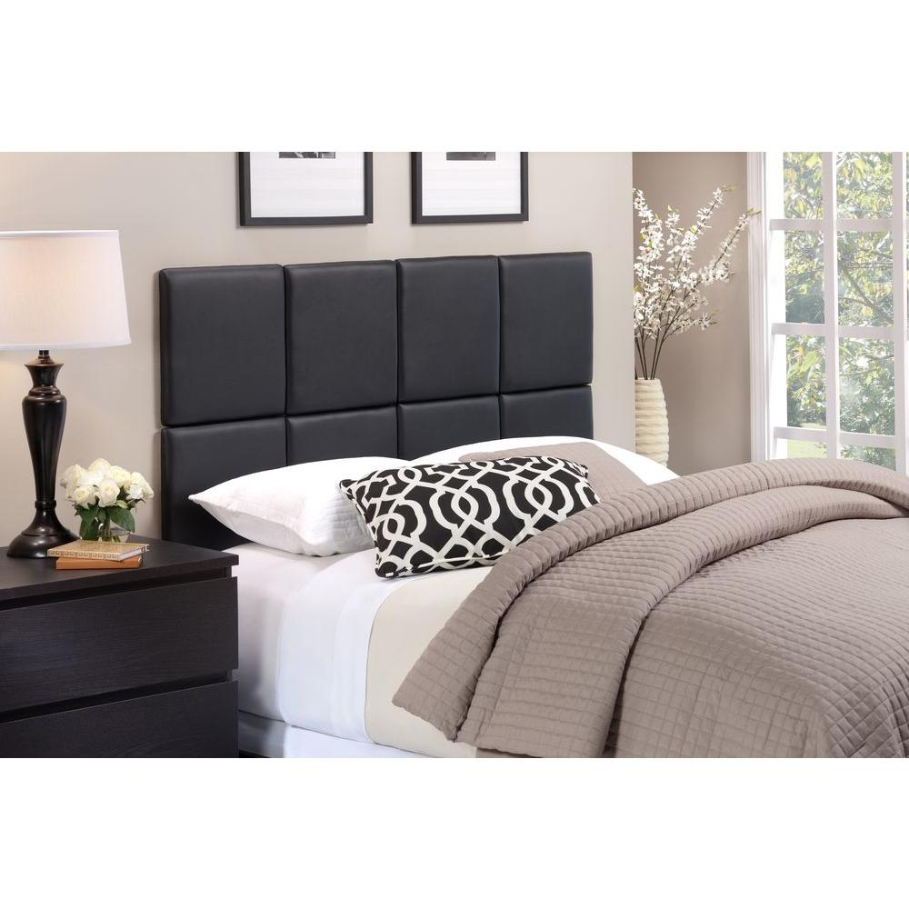 Foremost Tessa Matte Black Twin Headboard