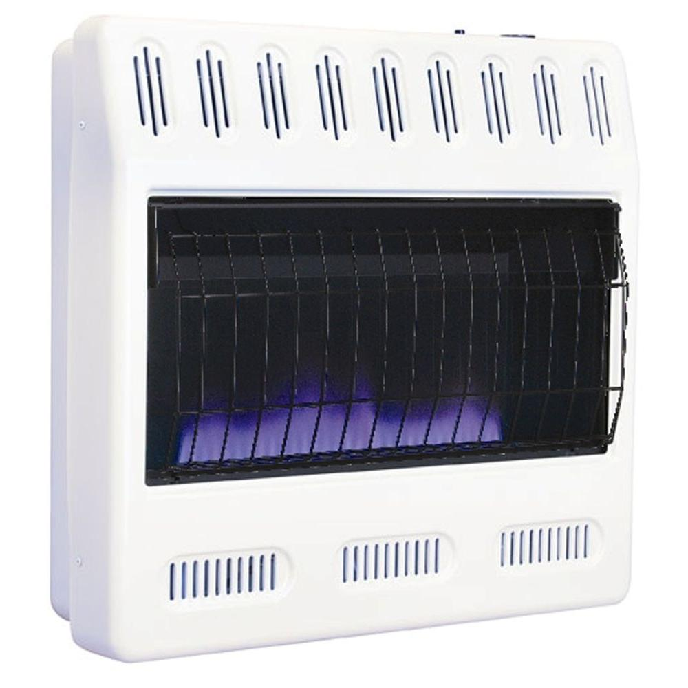 Williams 30 000 btu blue flame vent free natural gas wall for Natural gas heating options