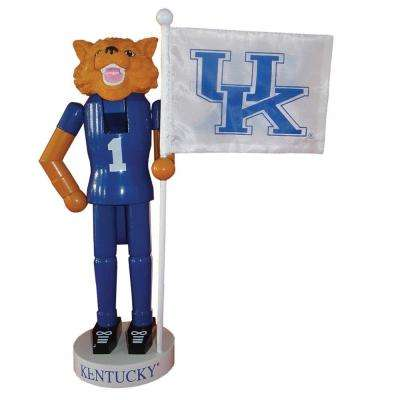 12 in. Kentucky Mascot Nutcracker with Flag