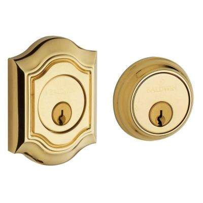 2-1/8 in. Bethpage Double Cylinder Door Prep Lifetime Polished Brass Deadbolt