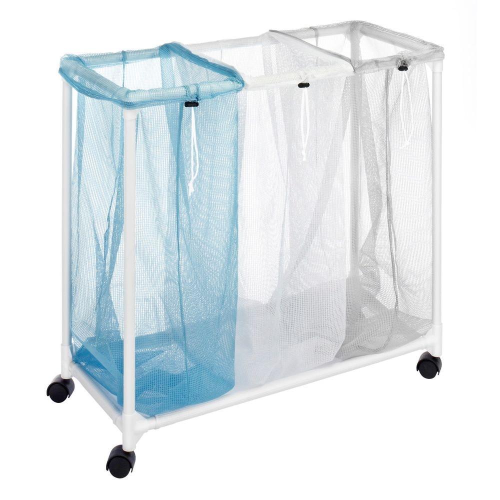 Whitmor Nylon Mesh 3-Section Laundry Sorter-6208-2417 ...