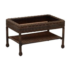 Mix and Match Brown Wicker Outdoor Coffee Table