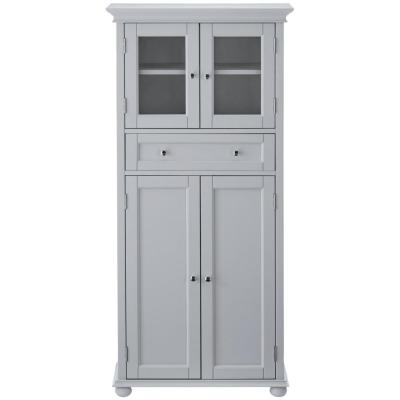 Hampton Harbor 25 in. W 4-Door Tall Cabinet in Dove Grey