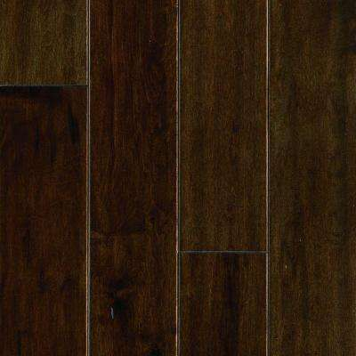Mocha Maple 1/2 in. T x 5.25 in. W x Random Length Soft Scraped Engineered UNICLIC Hardwood Flooring (23 sq. ft. / case)